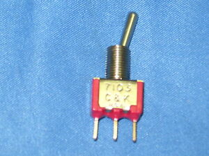 C K 7000 Series Miniature Toggle Switch 7103 Lot Of 10
