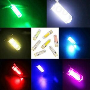 T10 194 168 W5w 20 Chips Cob Led Car License Plate Lights Silica Side Wedge Bulb
