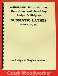 Lodge Shipley Doumatic 3a 2a Lathe Owner s Manual 0438