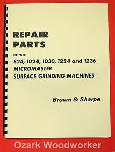 Brown Sharpe Micromaster Surface Grinders Parts Manual 0096