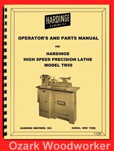 Hardinge Tr59 Dv59 Split Bed High Speed Precision Metal Lathe Parts Manual 1129