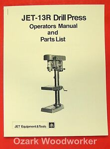 Jet asian 13r Drill Press Owner s Parts Manual 0798