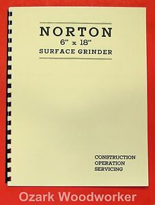 Norton 6x18 Older Surface Grinder Parts Manual 0494