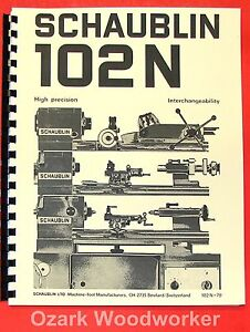 Schaublin No 102n Series High Precision Metal Lathes Catalog Manual 0895