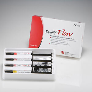 Vericom Denfil Flow Flowable Composite Kit Package 4 X 2g Syringes A2 120 Tips