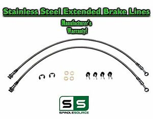 88 98 Chevy Gmc C1500 C2500 C3500 Stainless Steel Extended Length Brake Lines