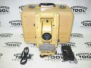 Topcon Gts 304 Total Station Transit W Case New Charger Battery Survey Level