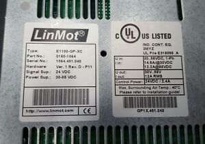 Linmot E1100 gp xc 0150 1864 Servo Drive Net Price 569 Fedex Shipping