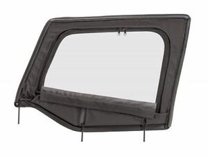 1987 1995 Jeep Wrangler Soft Top Driver Upper Door Window With Frame Back Denim