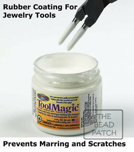 Tool Magic Rubber Coating For Jewelry Tools prevents Scratches Wire Jump Rings