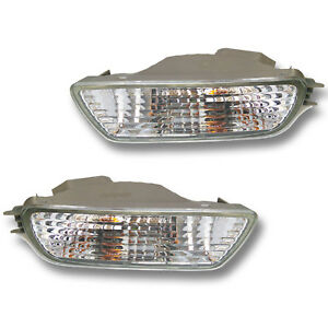 Fits 01 04 Toyota Tacoma Lower Bumper Turn Signal Light Lamp Assembly 1 Pair