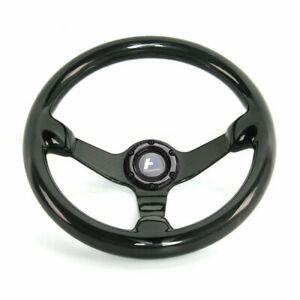 300mm Bolts Racing Steering Wheel Cover Carbon Fiber 6 Holes Universal Black