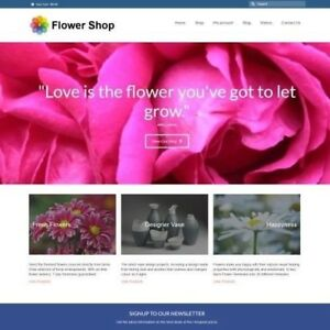 Flowers Website Business For Sale 296 00 A Sale Instant Traffic System