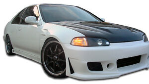 92 95 Honda Civic 2 4dr Duraflex B 2 Side Skirts Rocker Panels 2pc 105542