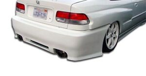 96 00 Honda Civic 2 4dr Duraflex Spyder Rear Bumper 1pc Body Kit 101744