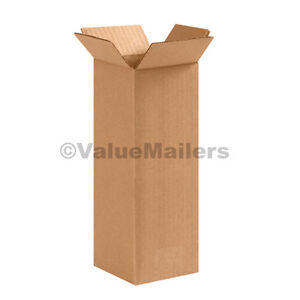25 4x4x36 Tall Cardboard Packing Mailing Moving Shipping Corrugated Boxes