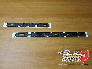 2017 Jeep Grand Cherokee Emblem Kit Both Grand Cherokee Emblems Mopar Oem