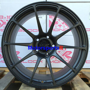 Xxr 527 Forged 18 X9 20 Flat Black Rims Wheels 5x114 3 Mitsubishi Evolution 8 9