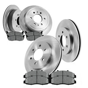 Front 350mm And Rear 348mm 6 Lug Brake Rotors Metallic Pads 2010 2011 Ford F150