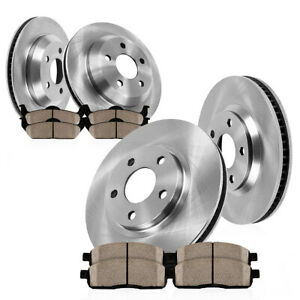 Front And Rear Brake Disc Rotors Ceramic Pads Kit Fits 2006 2007 Nissan Murano