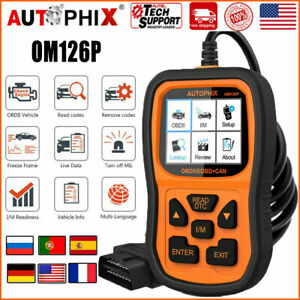 Gasoline Engine Code Reader Autophix Om126 Automotive Obdii Diagnostic Scan Tool