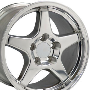17x9 5 Polished C4 Corvette Zr1 Style Wheels Set Of 4 Rims Fit Camaro Ss Oew