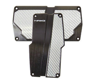 Nrg Automatic Transmission Pedal Cover Black With Silver Carbon