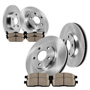 Front And Rear Brake Rotors Ceramic Pads 1999 2000 2001 2002 Jeep Grand Cherokee