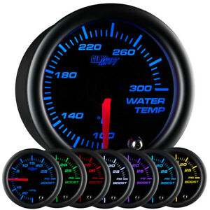 Glowshift 52mm Black 7 Color Led Water Coolant Temperature Temp Gauge Meter f