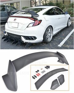 Type R Style Rear Trunk Lid Wing Spoiler Body Kit For 16 up Honda Civic Coupe