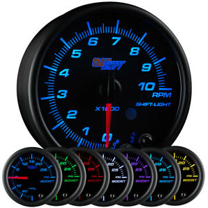 3 3 4 Glowshift Black 7 Color Series In Dash Tachometer Tach Gauge 0 10 000 Rpm