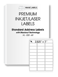 800 Sheets 24000 Labels Address Mailing Blackout Technology Fast Peel 1 X 2 5 8