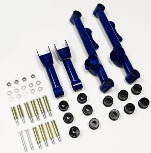 Vms Racing Rear Upper And Lower Tubular Control Arms 79 04 Ford Mustang Blue Uca