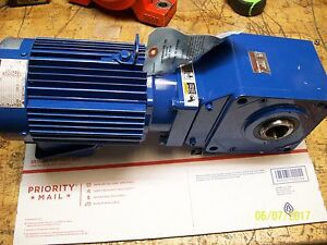 new Sm cyclo 1 Hp Induction Motor Tc fx With 1 Hp Gear Reducer Rnym1 1420a 60