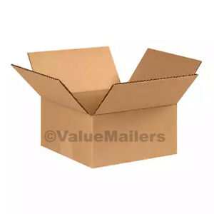50 8 X 6 X 3 Flat Shipping Boxes Packing Storage Cartons Cardboard Mailing Box