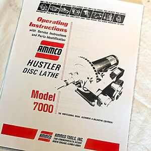 Ammco Operating Service And Parts Manual 7000 Hustler Brake Lathes