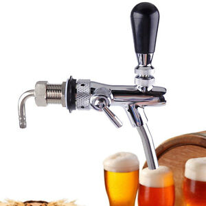 Adjustable Draft Beer Tap Shank G5 8 Faucet Kegerator Flow Controller Homebrew