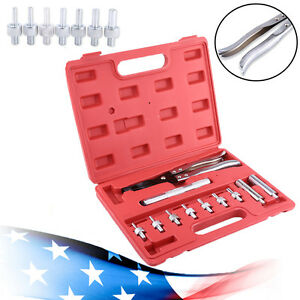 11pc Valve Stem Seal Remover Installer Tool Kit Set Case Removal Pliers Adapters