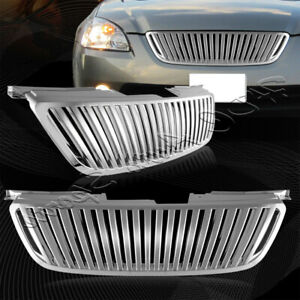 For 2002 2004 Nissan Altima Chrome Vertical Abs Plastic Front Upper Grill Grille