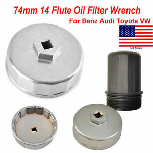 1x 74mm Oil Filter Cap Wrench Socket Remover Tool For Benz Audi Toyota Vw New