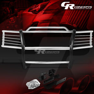 Chrome Stainless Front Bumper Grille Grill Guard For 00 06 Chevy Suburban Tahoe