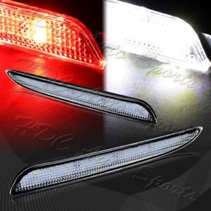For 2010 2013 Mazda 3 Clear Lens Red Led Rear Bumper Reflector Brake Light Lamps