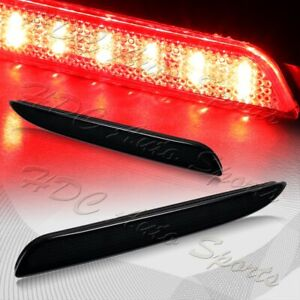 For 2010 2013 Mazda 3 Smoke Lens Red Led Rear Bumper Reflector Brake Light Lamps
