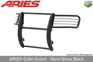 Aries Black Semi Gloss Grille Brush Guard Front 1pc 2007 2013 Gmc Sierra 1500