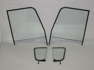 Vent Door Clear Glass 1955 1959 Chevy Gmc Pickup Assembled Black Frame