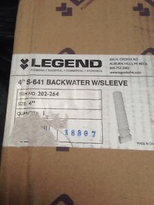 Legend 202 264 4 Solvent S 641 Backwater Valve With 16 Access