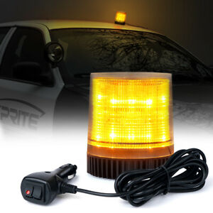 Xprite Amber 12 Led Rotating Strobe Light Rooftop Flash Emergency Warning Trucks