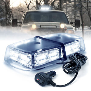 White 36 Led Oval Roof Top Hazard Warning Strobe Light Magnetic Mount
