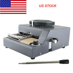 Us 72 Character Letters Embossing Machine Manual Embosser Pvc Card Stamping