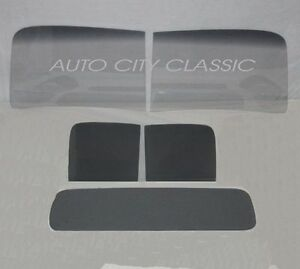 1940 1942 Ford Pickup Glass Windshield 2 Piece Door Rear Back Set Custom Grey